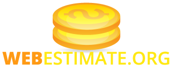 Estimate the value of an internet site